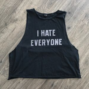 BRANDY MELVILLE I HATE EVERYONE TANK TEE KATE